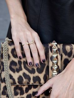 leopard & gold rings