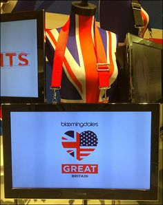 Bloomingdale's® Union Jacked – Fixtures Close Up Price Tickets, Union Jack, Visual Merchandising, Great Britain, Close Up, Retail, Display, Signs, Digital