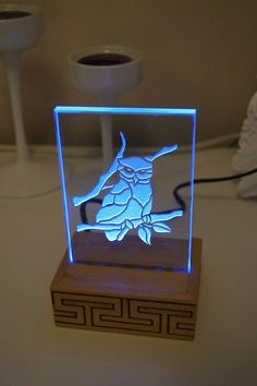 OWL Mini Life TOTEM LED lighted Keep Calm decoration room mood light night light small panel with inline switch