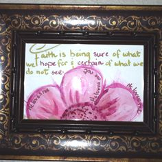 Watercolor art with biblical quote