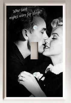James Dean and Marilyn Monroe Black and by christinafajardoart (Home & Living, Lighting, Switchplates, light switch plate, decorative, gift, handmade, marilyn monroe, pin up, movie star, sexy, fun, feminine, james dean, christina fajardo, on sale)
