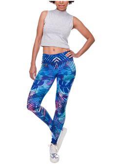 ed7da60f1e4f72 Ayliss Women Printed Stretch Leggings Elastic Pants Leaf Prints