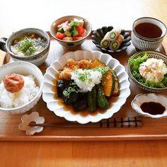 Japanese Dishes, Japanese Food, Bento Recipes, Healthy Recipes, Food Combining, Exotic Food, Aesthetic Food, Food Menu, Food Presentation