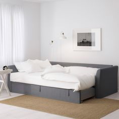 IKEA - FRIHETEN, Sleeper sofa, Skiftebo beige, , Easily converts into a bed.Large practical storage space under the seat. Sofa Bed Frame, Sofa Bed With Chaise, Ikea Sofa Bed, Sofa Beds, Cama Ikea, Ikea Friheten, Rosa Sofa, Apartment Needs, Apartment Therapy
