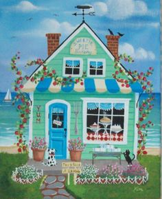 Sweetie Pie Bakery Folk Art Print. $12,95, via Etsy.