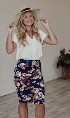 c974e9615e Fall Floral Pencil Skirt Pencil Skirt Casual, Pencil Skirt Work, Floral  Pencil Skirt,