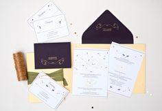 Oh So Beautiful Paper: Anjali + Suchit's Elegant Gold Foil Hindu Wedding Invitations