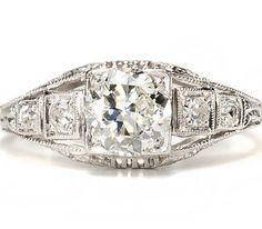 Artful Openwork 1.07 c. Diamond Ring  - The Three Graces