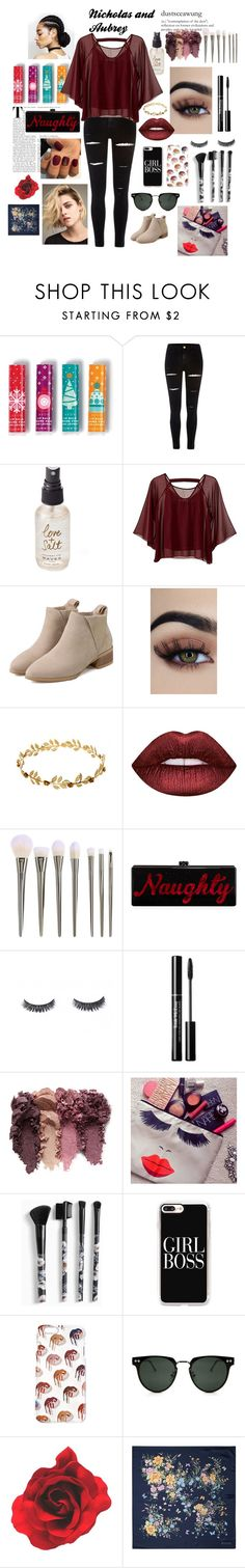 """""""Nicholas and Aubrey"""" by jennymin0625 ❤ liked on Polyvore featuring Avon, River Island, Olivine, Traffic People, Lime Crime, Edie Parker, Torrid, Casetify, Spitfire and Aspinal of London"""