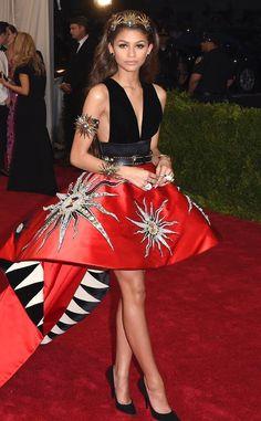 Zendaya, 2015 from Met Gala: Best Dressed Stars Zendaya Met Gala, Zendaya Dress, Zendaya Outfits, Zendaya Style, Celebrity Outfits, Celebrity Style, Gala Dresses, Red Carpet Dresses, Nice Dresses