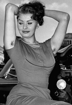 Sophia Loren! Who would have thought that a beauty like her did NOT shave her underarms!!! Gross!