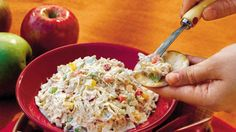 Chicken Salad - Fresh & Easy Chicken Salad Recipes - Southern Living - Don't let the simple name fool you. Loaded with red and yellow bell peppers, red onions, water chestnuts, and diced celery, this salad is full of original flavor and a powerful crunch.Recipe:Chicken Salad