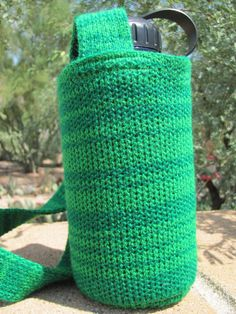 Knit Insulating Water Bottle Holder Cozy with by KittysKorner