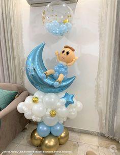Qualatex | El mundo de los Globos: Líbano Baby Balloon, Balloon Gift, Ballon Crafts, Balloon Bouquet, Balloon Decorations, Stitch Patterns, Balloons, Baby Boy, Halloween