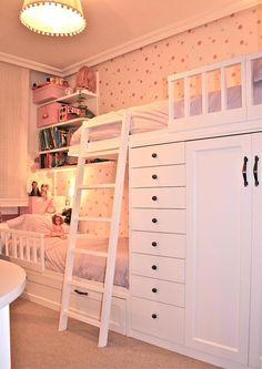 Small Room Design Bedroom, Kids Bedroom Designs, Room Ideas Bedroom, Home Room Design, Kids Room Design, Bedroom Sets, Beds For Small Rooms, Bed For Girls Room, Cool Kids Bedrooms