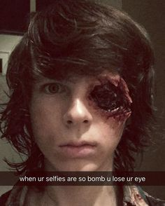 Pin for Later: 26 Behind-the-Scenes Moments From The Walking Dead That Will Make You Smile TFW Someone Catches Your Eye From Across the Room