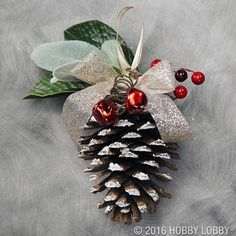 Incorporate natural winter elements into your holiday decor with festive DIY Christmas ornaments!