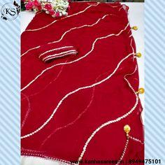 Banarasi Lehenga, Bandhani Saree, Sari, Gota Patti Saree, Red Saree, Work Sarees, Chiffon Saree, Fancy Sarees, Saree Styles