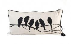 Love Birds Kissen - schwarz/off-white - Ferm Living White Pillow Cases, Throw Pillow Cases, Pillow Covers, Modern Pillows, Decorative Throw Pillows, Bird Pillow, Cushion Pillow, Black And White Pillows, Comfortable Pillows
