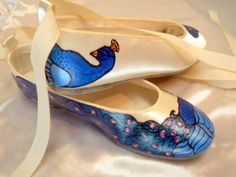 ~Must have for my big day!~   Wedding shoes  Ballerina Flats painted peacocks on by norakaren, $225.00