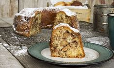 Warm apple cake with cinnamon, walnuts, and whole chunks of apples. A delicious Fall apple cake that can be served as dessert or as a breakfast coffee cake! Greek Sweets, Greek Desserts, Sweet Loaf Recipe, Sweet Recipes, Apple Cake Recipes, Dessert Recipes, Vasilopita Recipe, Yummy Treats, Delicious Desserts
