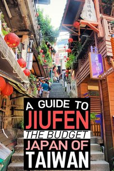 This Taiwan travel guide to Jiufen is so comprehensive! If youre going to Taipei you NEED to do a day trip to Jiufen (especially if you like the film Spirited Away). Its full of traditional Japanese culture and style but is so much cheaper! (Photographer is Shigeru Rokujuu). #Jiufen #Taiwan #SpiritedAway #Japan
