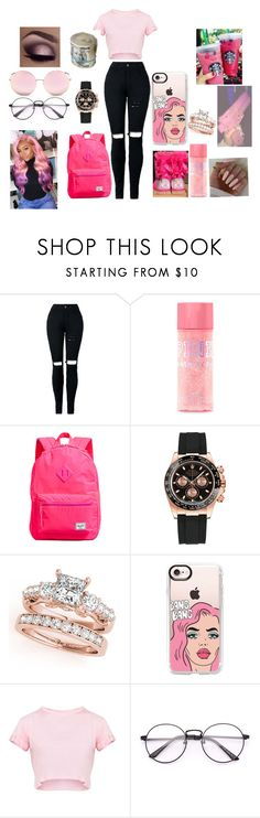 """#pinkbaby💞💞"" by daijiabookie ❤ liked on Polyvore featuring UGG, Herschel Supply Co., Rolex, Casetify and Matthew Williamson"