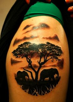 ... Tattoos on Pinterest | Water buffalo African sunset and Tattoo shop