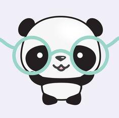 Browse unique items from LookLookPrettyPaper on Etsy, a global marketplace of handmade, vintage and creative goods. Cute Panda Drawing, Cute Kawaii Drawings, Cute Animal Drawings, Cartoon Panda, Cute Cartoon, Panda Wallpapers, Cute Wallpapers, Panda Kawaii, Panda Mignon