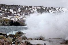 Bid waves.  Flatrock, NL Newfoundland, Getting Old, Niagara Falls, Labrador, Waves, The Incredibles, Culture, Island, Heart