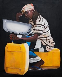 From Gallery Jeremiah Quarshie, 'Gertrude' Yellow is the Colour of Water Acrylic on canvas, 140 × 109 cm African Art, Black Art, Artsy, Fine Art, Canvas, Yellow, Gallery, Instagram Posts, Pictures