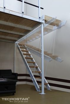 Diy Garage Storage, Attic Storage, Attic Renovation, Attic Remodel, Cottage Stairs, Garage Attic, Loft Stairs, Garage Interior, Tiny House Cabin