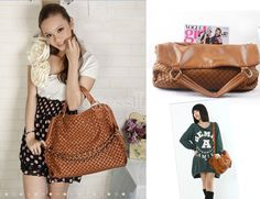 Korean Style Lady PU Leather Handbag Shoulder Bag
