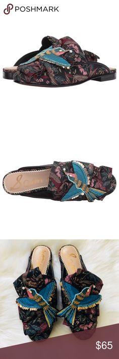NWOT Sam Edelman Peters Blue Bird Mules Beautiful details. Never Worn Sam Edelman Shoes Mules & Clogs