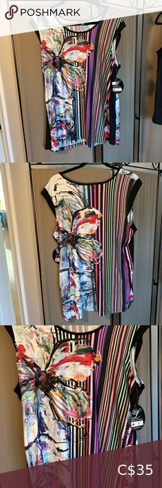 Multicoloured summer top Lovely lightweight top perfect for hot summer days. Libra - made in Canada Tops Summer Days, Libra, Canada, Hot, Closet, Things To Sell, Style, Swag, Armoire