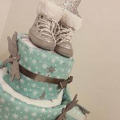 Gâteau de couches , pour cadeau de naissance ou pour faire plaisir