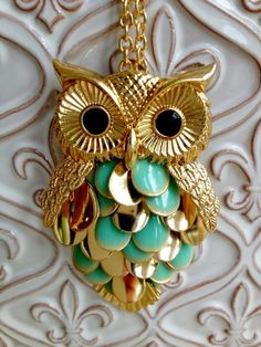 Fleurty Girl - Everything New Orleans - Gold Owl Necklace - Jewelry - Footwear & Accessories