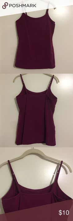 Express bra cami tank top Express bra cami tank top in fuchsia with shelf bra and adjustable straps Express Tops Tank Tops