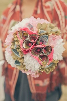 make a separate bouquet to toss that is made of scratch off lotto tickets, that way people will actually Want to catch it!