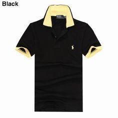 Polo Ralph Lauren Men Custom Fit Short Sleeve Pony Shirt Black