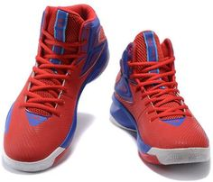 6b381db7cf5d Under Armour UA Curry Mens Basketball shoes Red sapphire blue2 Red Sapphire