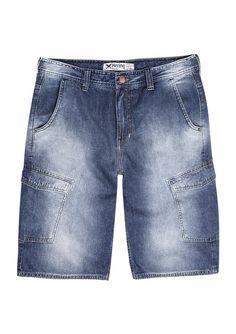 Bermuda masculina hering tipo cargo em jeans na Hering 001f4994441