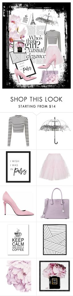 """""""My pink and beautiful Paris"""" by fashion6520 ❤ liked on Polyvore featuring Miss Selfridge, Dsquared2, Alexander Wang, Michael Kors and Oliver Gal Artist Co."""