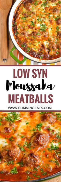 Slimming Eats Low Syn Moussaka Meatballs - gluten free, Slimming World and Weigh. astuce recette minceur girl world world recipes world snacks Slimming World Dinners, Slimming World Recipes Syn Free, Slimming Eats, Slimming Word, Slimming World Minced Beef Recipes, Sp Meals Slimming World, Slimming World Burgers, Slimming World Lunch Ideas, Slimming World Fakeaway