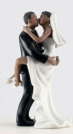Kissing Bride & Groom Cake Topper