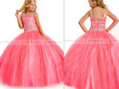 Admirable Ball Gown Square-neck Floor-length Satin And Tulle Flower Girls Dresses