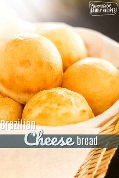This Brazilian Cheese Bread (Pan de Queijo) is SO easy to make and is the perfect addition to any meal. You will love the chewy bread and cheesy center. via Favorite Family Recipes Brazillian Cheese Bread, Brazilian Cheese Puffs, Brazilian Bread, Brazilian Bbq, Brazilian Recipes, Bread Recipes, Snack Recipes, Cooking Recipes, Keto Recipes