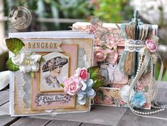 Mini with altered art box by @Susan Lui using A Ladies' Diary. Gorgeous! #graphic45