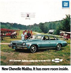 1973 Advertisement for Chevrolet Malibu