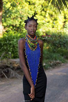 LEBENE NECKPIECE ankara necklace beads jewelr ankara